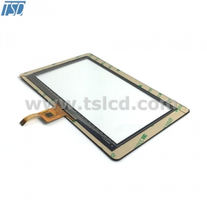 tft lcd cover lens for 7inch TFT module with CTP