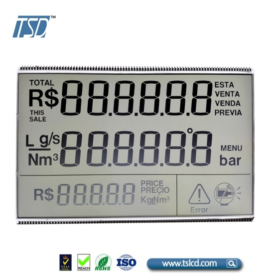 Fuel dispenser LCD panel TN LCD duty one by one