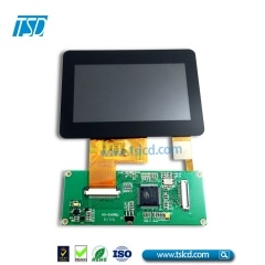 High brightness 4.3 inch tft lcd display with CTP