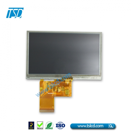 500 high brightness 4.3'' WQVGA lcd tft with RTP