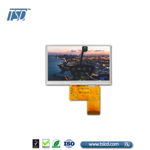 800x480 resolution 4.3 inch ips lcd display with RGB interface