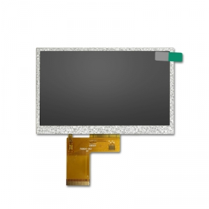 WVGA 800x480 resolution 5 inch lcd monitor with wide temperature