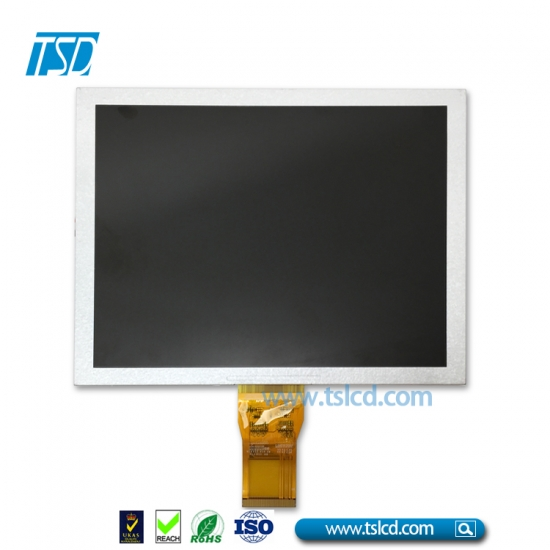 "8""IPS TFT LCD with all o'clock viewing angle"