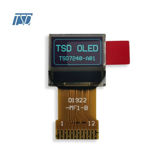 72×40 dot matrix OLED display